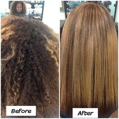 Before and After Keratin smoothing treatment!