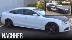 Car Dip von Audi entfernen - mibenco Flüssiggummi SPRÜHFERTIG, schwarz matt / liquid rubber removal