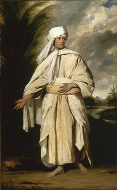 "sir joshua reynolds - ""portrait of omai, a south sea islander who travelled to england with the second expedition of captain cook"", c. 1776, oil on canvas."