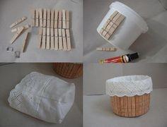 yoğurt kovasıyla sepet yapımı