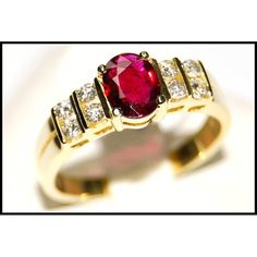 http://rubies.work/0410-sapphire-ring/ Diamond Wedding 18K Yellow Gold Solitaire Ruby Ring by BKGjewels