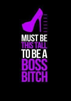 yep..stilettos all the way..don't stand over me, in my face, in my space..read it, get it, good.