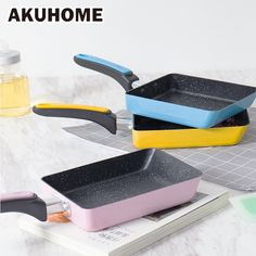 Stainless Steel Nonstick Frying Pan Handel Pancake Omelette Egg Pots and Pans Rectangle Cookware Set Deep Gas Induction. Category: Home & Garden. Cooking Supplies, Kitchen Supplies, Kitchen Tools, Room Kitchen, Kitchen Gadgets, Kitchen Dining, Griddle Grill, Grill Pan