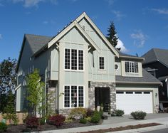 Elegant Facade with Options - 23076JD | 2nd Floor Master Suite, Butler Walk-in Pantry, CAD Available, Craftsman, Den-Office-Library-Study, Loft, Media-Game-Home Theater, Northwest, PDF, Photo Gallery, Sloping Lot | Architectural Designs