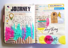 art journal page - Journey(via Inspiration Blog Hop | Olya...