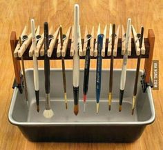 To all the painters here, here is a DIY paintbrush holder