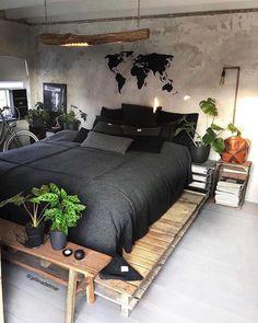 Master Bedroom Decorating Ideas Modern Bedroom Sets Home Room Ideas Bedroom, Bedroom Sets, Dream Bedroom, Home Decor Bedroom, Master Bedroom, Pallet Ideas Bedroom, Diy Bedroom, Bedroom Furniture, Gypsy Bedroom