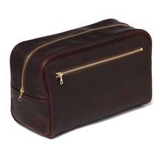 Pebbled Bourbon Leather Wash Kit | SIR JACK'S