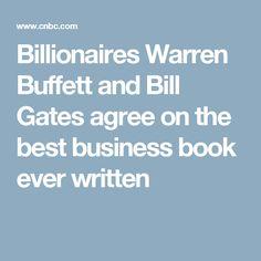 Billionaires Warren Buffett and Bill Gates agree on the best business book ever written
