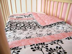 baby girl quilt. another great craft for a baby shower gift!! Anyone need one made? :)