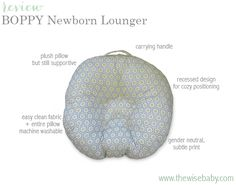 Boppy Newborn Lounger Review - a portable, safe and cozy place for newborns to rest!