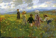 Children ~ Ettore Tito ~ (Italian: 1859-1941)