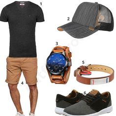 Braun-Graues Outfit mit cooler Armbanduhr (m0458) #outfit #style #fashion #menswear #mensfashion #inspiration #shirt #cloth #clothing #männermode #herrenmode #shirt #mode #styling #sneaker #menstyle