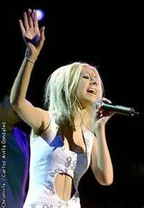 Christina Aguilera with my Sis & Mama.. Oct 15,2000 at Concord Pavilion