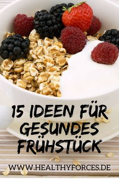 Frühstück das satt macht: 15 Ideen zum Abnehmen Make a healthy breakfast every morning? No time, no ideas? Look at this list: 15 delicious ideas that you can prepare in the evening. Detox Breakfast, Health Breakfast, Vegan Breakfast Recipes, Breakfast Ideas, Breakfast Healthy, Healthy Snacks, Healthy Eating, Healthy Recipes, Detox Recipes