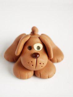 *POLYMER CLAY ~ doggy.