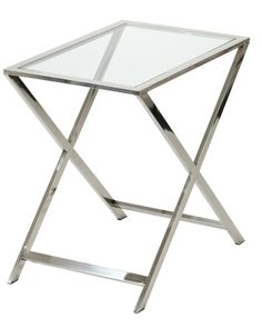 Steel Bistro Table with Glass Top