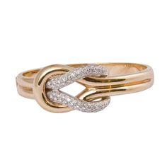 leo pizzo - leo pizzo diamond knot bangle bracelet