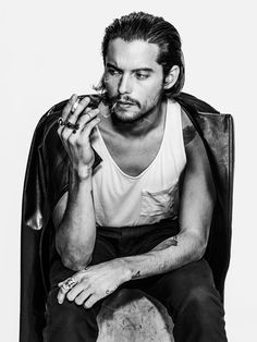 Dylan Rieder in DKNY jeans, jacket by Robert James and tank by Topshop @papermagazine