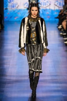 Anna Sui Fall 2017 Ready-to-Wear Fashion Show - Kendall Jenner