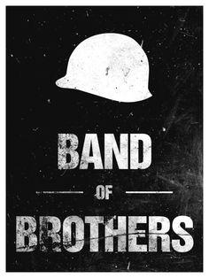 Band of Brothers (2001) ~ Minimal TV Series Poster by Tyler Bramer ~ Bond Series #amusementphile