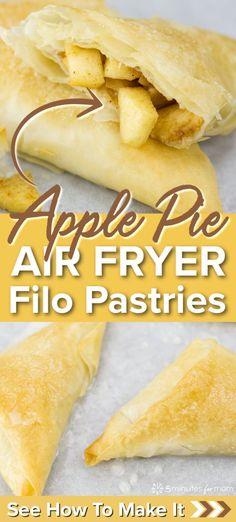 Airfryer Apple Pie Filo P / #Airfryer #Apple #Filo #Pie Apple Pie Recipes, Apple Desserts, Pastry Recipes, Best Dessert Recipes, Bean Recipes, Potato Recipes, Fun Desserts, Danish Recipes, Apple Pies