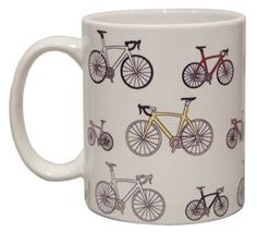 Cycling mug - hardtofind.  My boyfriend loves to cycle! Must keep this in mind as an extra present for his birthday!!!