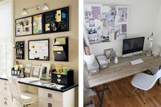 przestrzeń nadbiurkiem organizacja czasu Home Office, Office Desk, Wall Spaces, Cozy House, Corner Desk, Gallery Wall, House Design, Projects, Furniture
