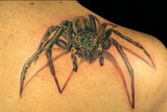 spider tattoo A spider is a smart predator known for its ability to weave intricate webs and patience in awaiting their prey. Many tattoo lovers ink Black Widow Spider Tattoo, Spider Web Tattoo, Tattoo Designs For Women, Tattoos For Women, Black Tattoos, Cool Tattoos, 3d Tattoos, Spider Drawing, Cooler Stil
