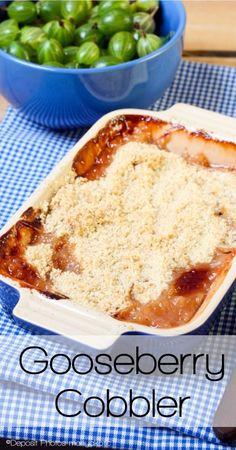 Gooseberry Cobbler - A Once in a Summer Dessert