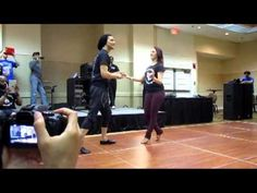 salsa turn patterns on 1 nery and giana - YouTube