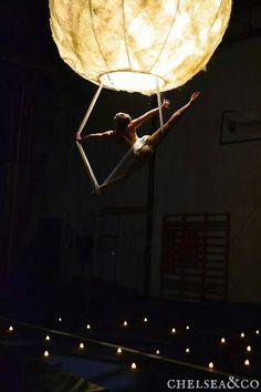 Unique tissue/aerial sling act. Artist: Tanya Brno; SANCA School of Acrobatics Seattle