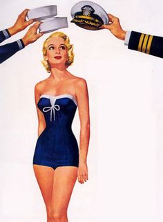 mudwerks:    Ren Wicks (by oldcarguy41)    This was in an ad for Catalina Swimwear.