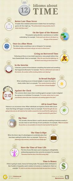 12 idioms about TIME [Grammar, Word Phrases]
