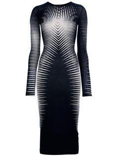 GARETH PUGH Striped Fitted Dress