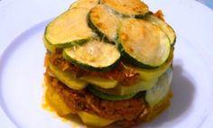 Esta receta es un éxito asegurado... hazlo y lo verás ! - Receta Entrante : Milhojas de calabacín, tomate y queso por Elcaminoverde