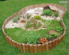 Habitat pour tortue domestique..