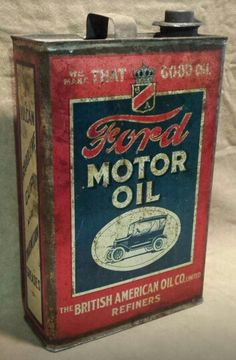 Ford Motor Oil Can