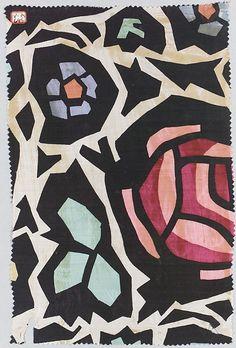 Textile sample by a designer unknown, 1910–28, silk, Wiener Werkstätte.