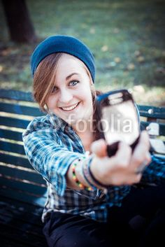 beautiful young blonde hipster woman selfie BUY IT FROM $1