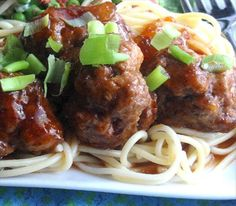 Pineapple Barbecued Meatballs: An unexpected twist on a classic dinner option, these sweet and tangy meatballs are to-die-for with rice or noodles. [Sponsored by Hidden Valley Ranch] Barbecue Meatball Recipes, Crockpot Recipes, Cooking Recipes, Barbecue Sauce, Microwave Recipes, What's Cooking, Steak Recipes, Bbq Grill, Beef Dishes