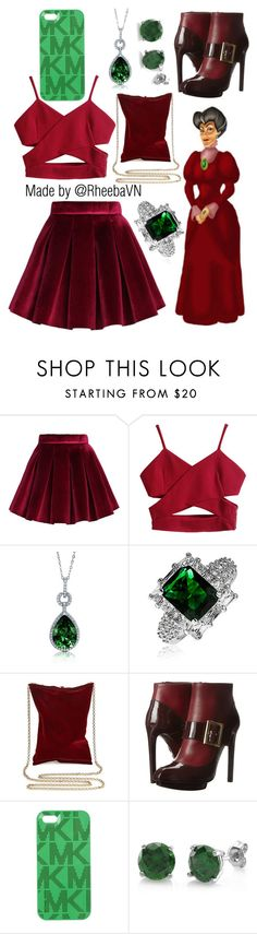 """""""Lady Termaine"""" by rheebavn ❤ liked on Polyvore featuring Chicwish, BERRICLE, Bling Jewelry, Anya Hindmarch, Alexander McQueen and Michael Kors"""