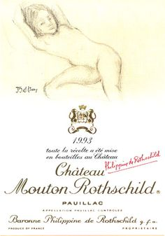 1993 Chateau Mouton-Rothschild label by Balthus. #Wine