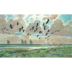 Pinkfooted Geese by Sir Peter Scott