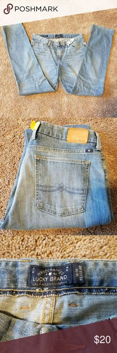 """EUC Lucky Brand Sweet Jean Straight 12/31 33"""" insm My long legs hit the jackpot with these and the 33"""" inseam so I dry cleaned them (no starch/no seams) always! No stains, spots, wear, damage or repairs. Lucky Brand Jeans Straight Leg"""