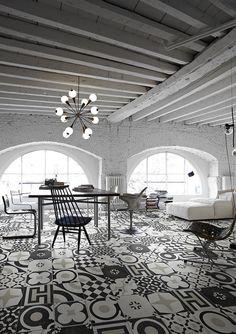 Piastrelle: Collezione Cementine Black&White da Ceramica Fioranese | #design #cersaie2014 #cersaie #interiordesign |