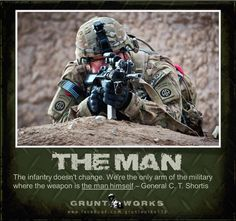 I am the Infantry. Follow me!