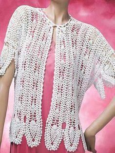 Crochet - Crochet Clothing - Jacket & Coat Patterns - Pineapple Lace Jacket