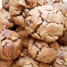 dish me flourless mocha hazelnut crunch cookies hazelnut and mocha ...