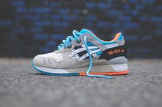 Asics gel lyte III with custom rope shoelaces from #kithnyc